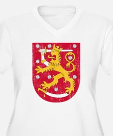 Coat Of Arms Of Finland Plus Size T-Shirt