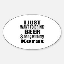 Hang With My Korat Sticker (Oval)