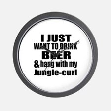Hang With My Jungle-curl Wall Clock