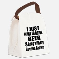 Hang With My Havana Brown Canvas Lunch Bag