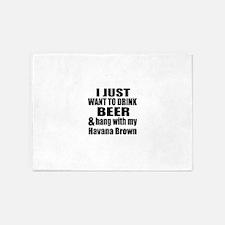 Hang With My Havana Brown 5'x7'Area Rug
