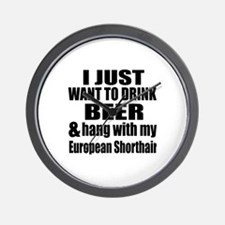Hang With My European Shorthair Wall Clock