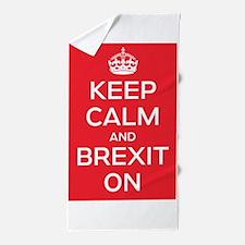 Keep Calm Brexit On Beach Towel