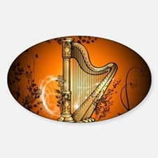 Golden harp Decal