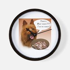 Aussie Terrier Turkey Wall Clock