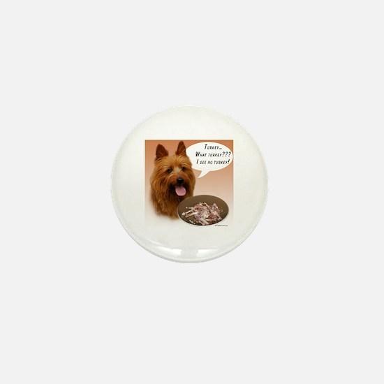 Aussie Terrier Turkey Mini Button