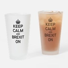 Keep Calm Brexit On Drinking Glass