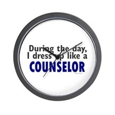 Dress Up Like A Counselor Wall Clock