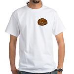 Sleeping Cat White T-Shirt