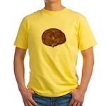 Sleeping Cat Yellow T-Shirt