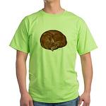 Sleeping Cat Green T-Shirt