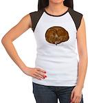 Sleeping Cat Women's Cap Sleeve T-Shirt