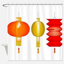 3 Chinese Lanterns Shower Curtain