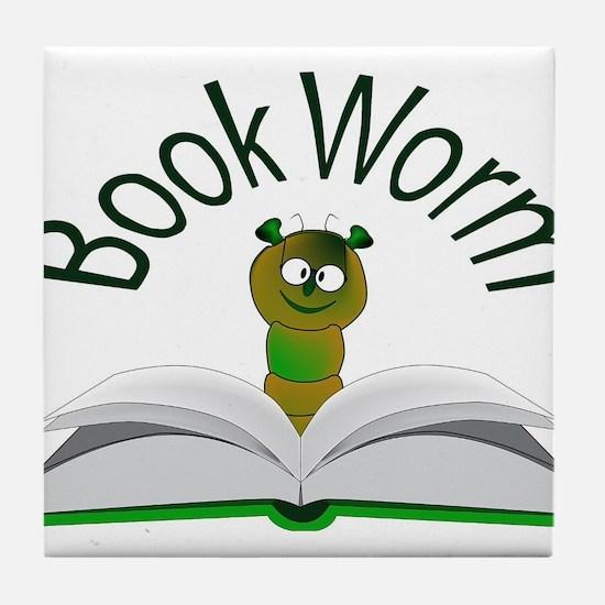 Book Worm Tile Coaster