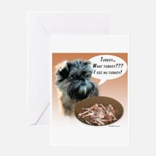 Affenpinscher Turkey Greeting Card