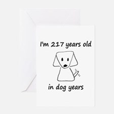 31 Dog Years 6-2 Greeting Cards