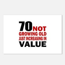 70 Not Growing Old Postcards (Package of 8)
