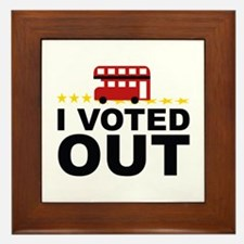 I Voted OUT Framed Tile