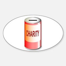 Round Charity Tin Decal