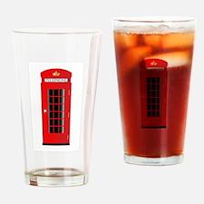 UK Telephone Box Drinking Glass