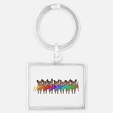 Chihuahua Winter Rainbow Keychains