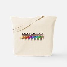 Chihuahua Rainbow Tote Bag