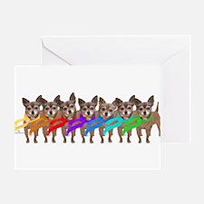 Chihuahua Rainbow Greeting Card