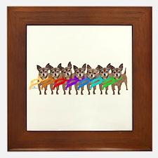 Chihuahua Rainbow Framed Tile