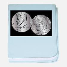 US Half Dollar Coin baby blanket