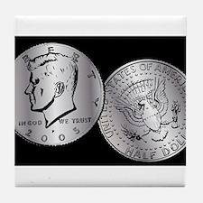 US Half Dollar Coin Tile Coaster