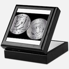 US Half Dollar Coin Keepsake Box