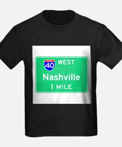 Nashville Exit Sign Ash Grey T-Shirt