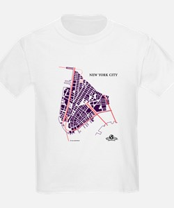 NYC Men's T-Shirt Purple on T-Shirt