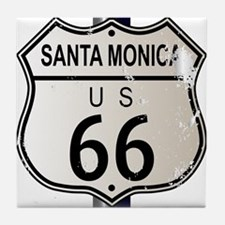 Santa Monica Route 66 Sign Tile Coaster