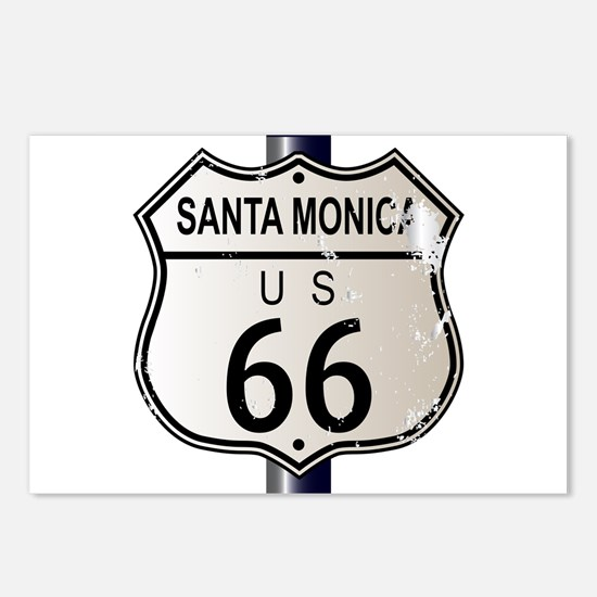 Santa Monica Route 66 Sig Postcards (Package of 8)
