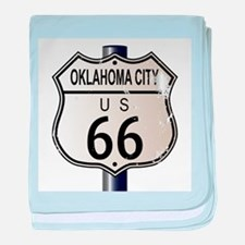 Oklahoma City Route 66 Traffic Sign baby blanket