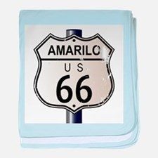 Amarillo Route 66 Sign baby blanket