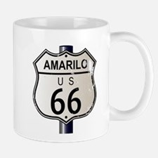 Amarillo Route 66 Sign Mugs