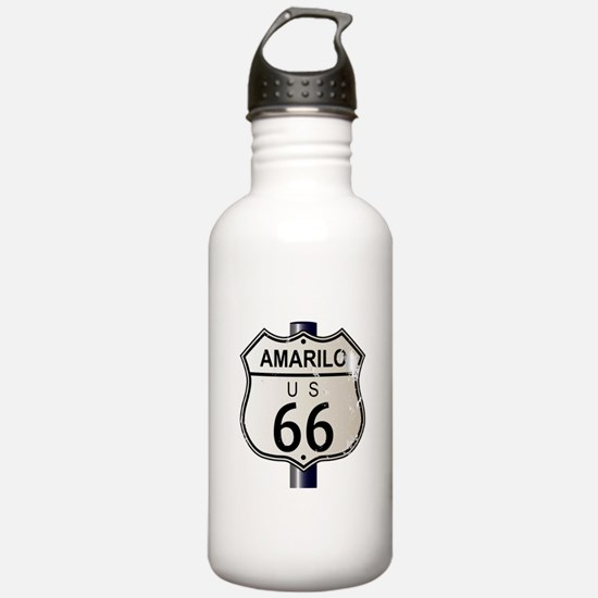 Amarillo Route 66 Sign Water Bottle