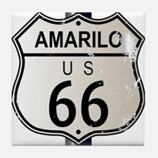 Amarillo Route 66 Sign Tile Coaster