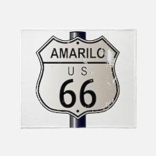 Amarillo Route 66 Sign Throw Blanket