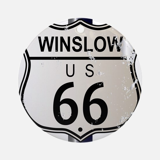 Winslow Route 66 Sign Round Ornament