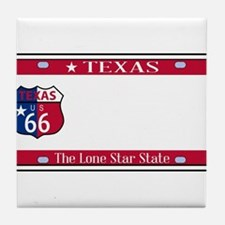Texas State License Plate Tile Coaster