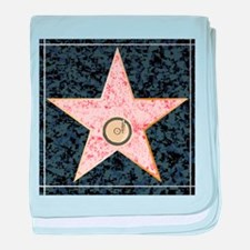 Hollywood Music Walk of Fame baby blanket