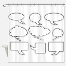 Speech Bubble Shower Curtain