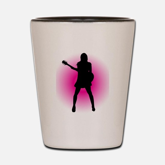 Girl Guitarist Shot Glass