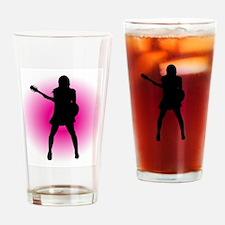 Girl Guitarist Drinking Glass