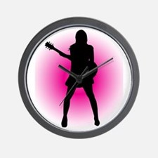 Girl Guitarist Wall Clock