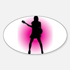 Girl Guitarist Decal