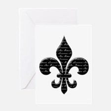 Calligraphy Fleur de lis Greeting Cards (Package o